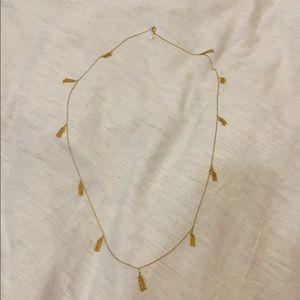Gorjana Gold Tassel Wrap Necklace